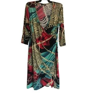 Unlimited Jersey Dress Cross Over Front Sz 14